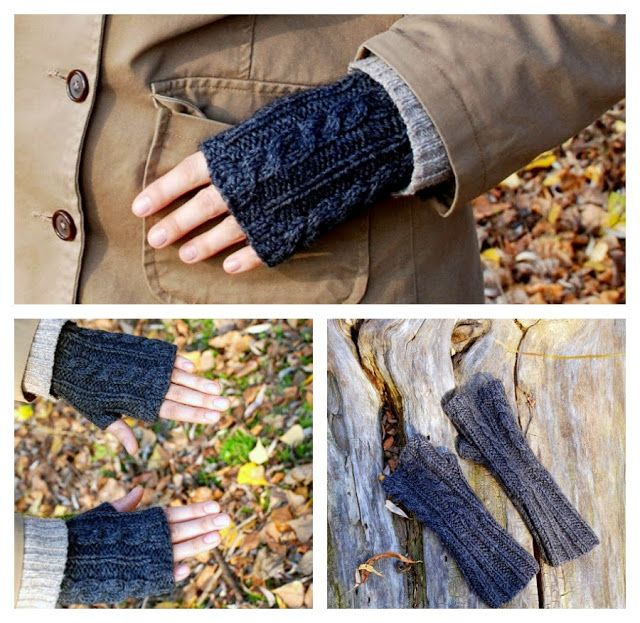 Cable Knit Hand Warmers Free Knitting Pattern Things We Do Blog