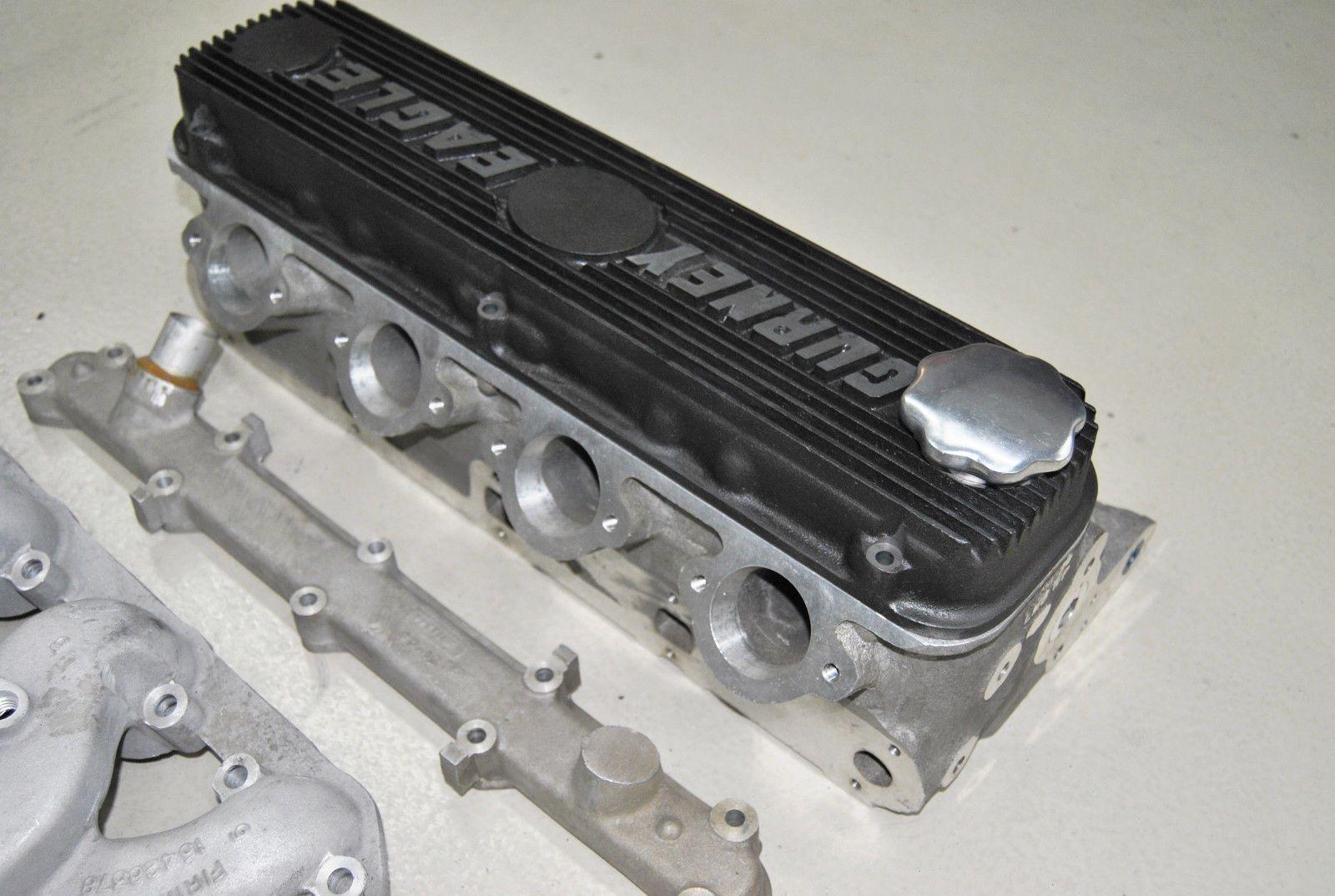 Gurney Weslake Vintage Nos Ford Cylinder Heads Intake Manifolds