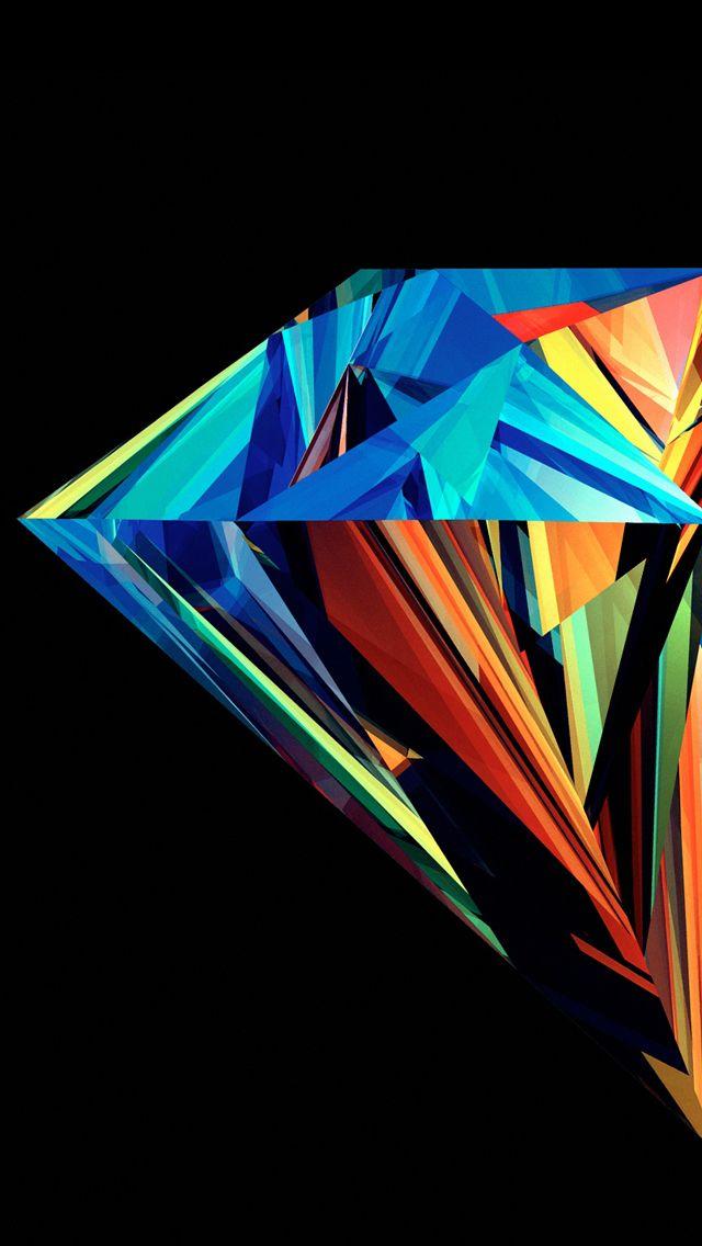 Multicolor Diamond Iphonewallpaper Iphone Wallpapers In