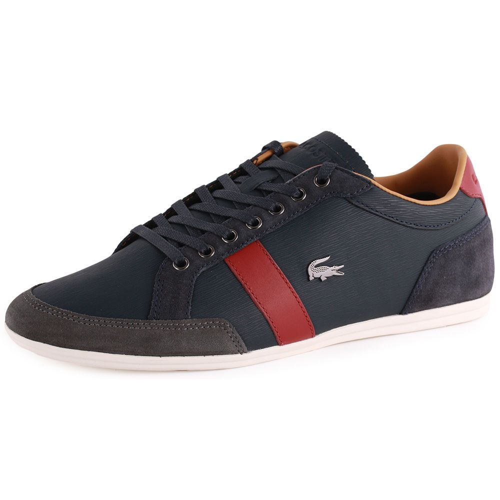 New Lacoste Shoes 11.5 Alisos 20 SRM Blue Leather Fashion Sneakers $145