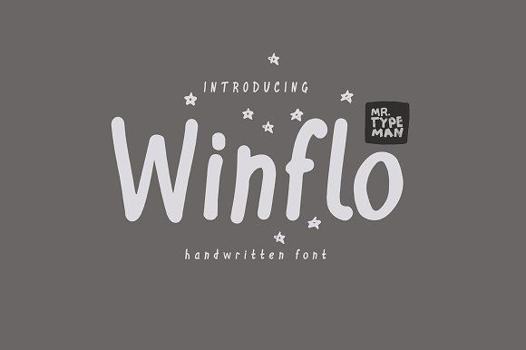 Winflo Handwritten Font by Mr.Typeman on @creativemarket   A Group