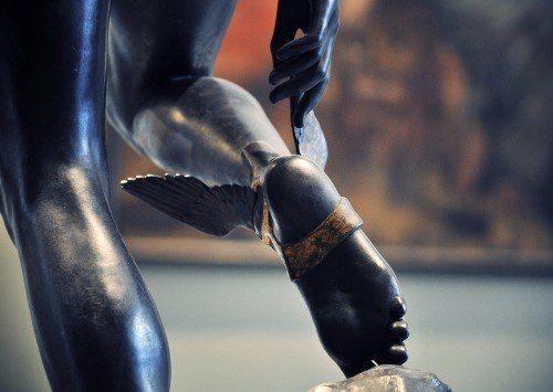 wasbella102 ~ Mercury Fastening His Heel-Wings by François Rude, Detail - Musée du Louvre, Paris