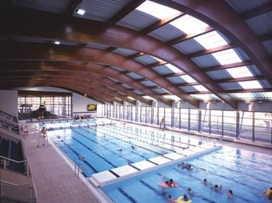 Pin by architecture hdt on pool ceilings pinterest swimming pool designs and swimming pools for Semi olympic swimming pool size