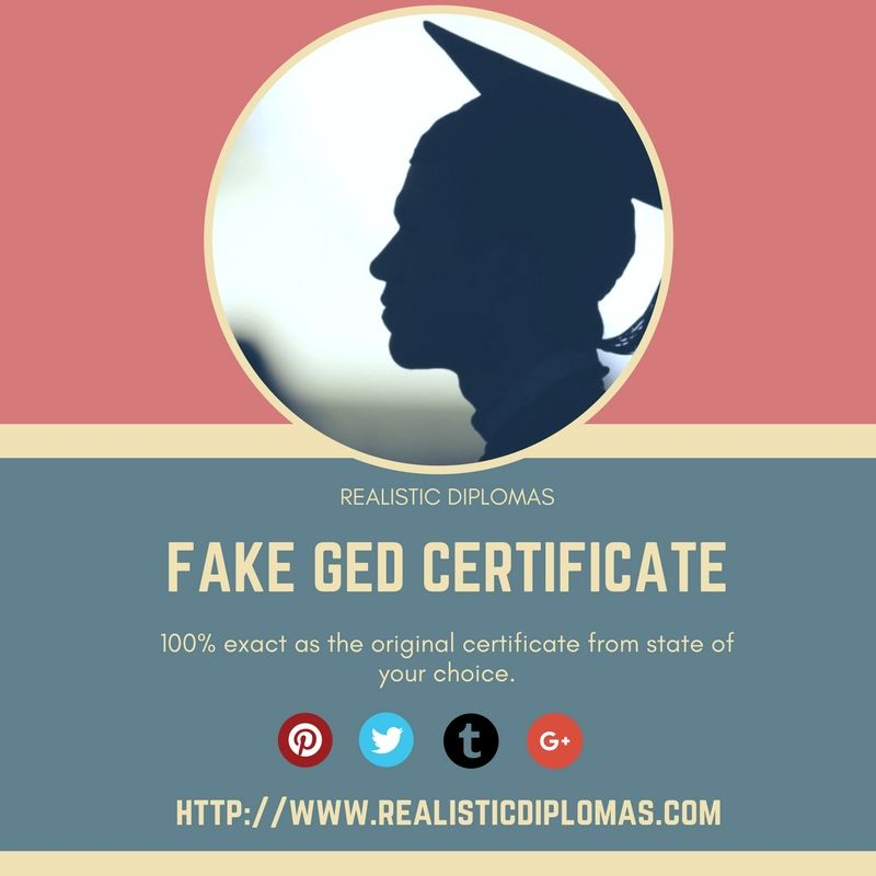 we provide a fake ged certificate with 100 exact as the original