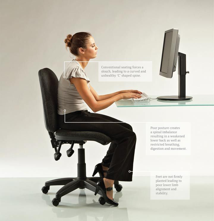 Chairs For Good Posture Ngopoliscom Healthy Work Pinterest - Posture chairs