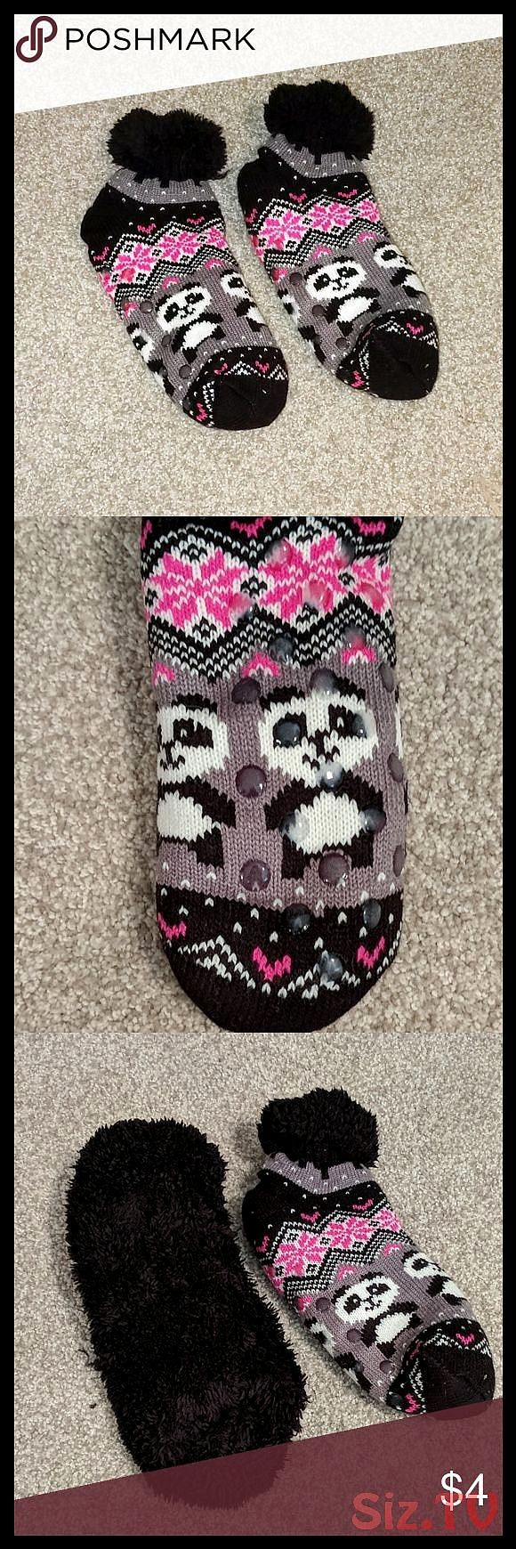 Winter socks one size for juniors Very warm socks for winter Never worn Grip pads on the bottom so you won 39 t slide on hardwood floors black intWinter socks one size fo...