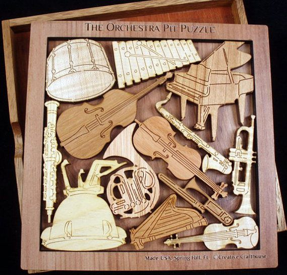 Orchestra Pit Wood Puzzle Brain Teaser