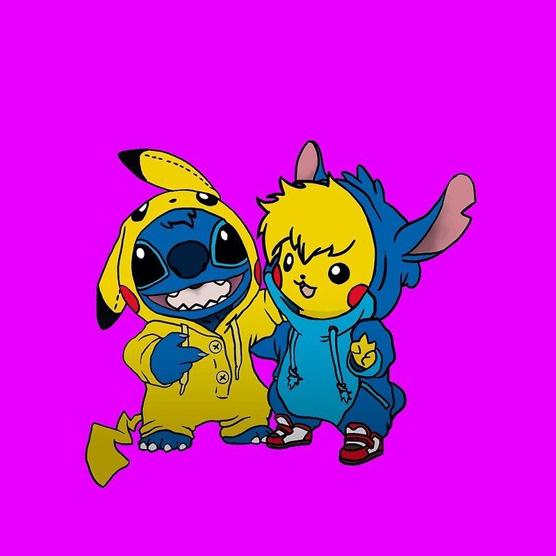 Pikachu And Stitch So Kawaii Cute Disney Drawings Cute Drawings Kawaii Drawings