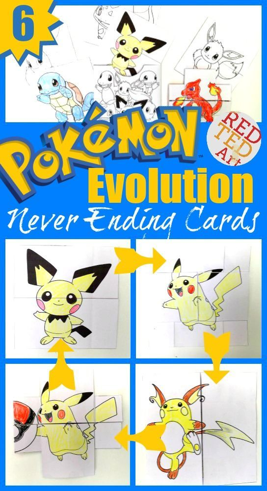 Pokemon Evolution Cards Printables Red Ted Art Make Crafting With Kids Easy Fun Pokemon Craft Pokemon Diy Diy Pokemon Crafts