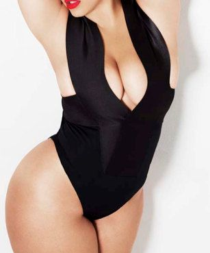44cca7e9285 Plus size Bandage swimsuit/ bathing suit one piece, swimwear, Top ...