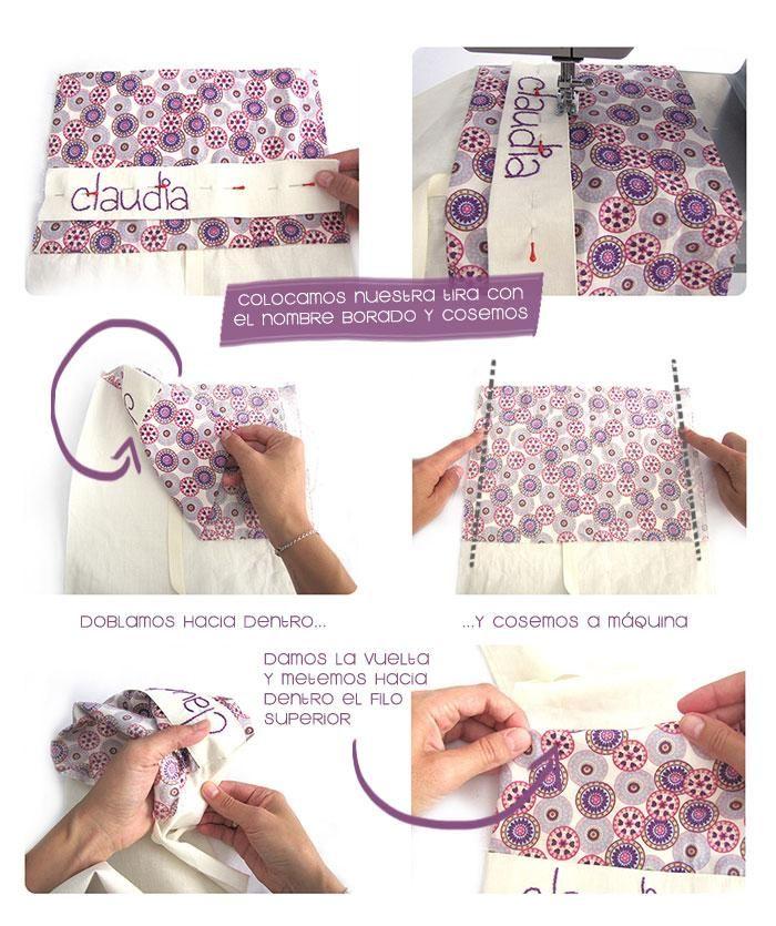 Una bolsa para los pañales personalizada y DIY | crafts | Pinterest ...