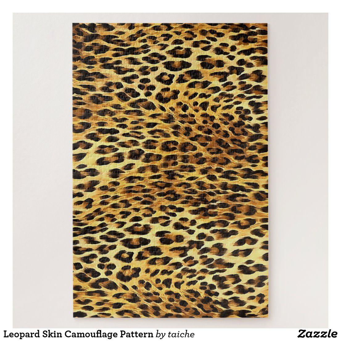 Leopard Skin Camouflage Pattern Jigsaw Puzzle