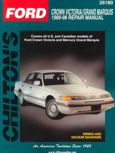 Ford Crown Victoria And Grand Marquis 1989 98 Chilton Total Car Care Series Manuals By Chilton Delmar Cengage Learning Totaled Car Car Care Grand Marquis
