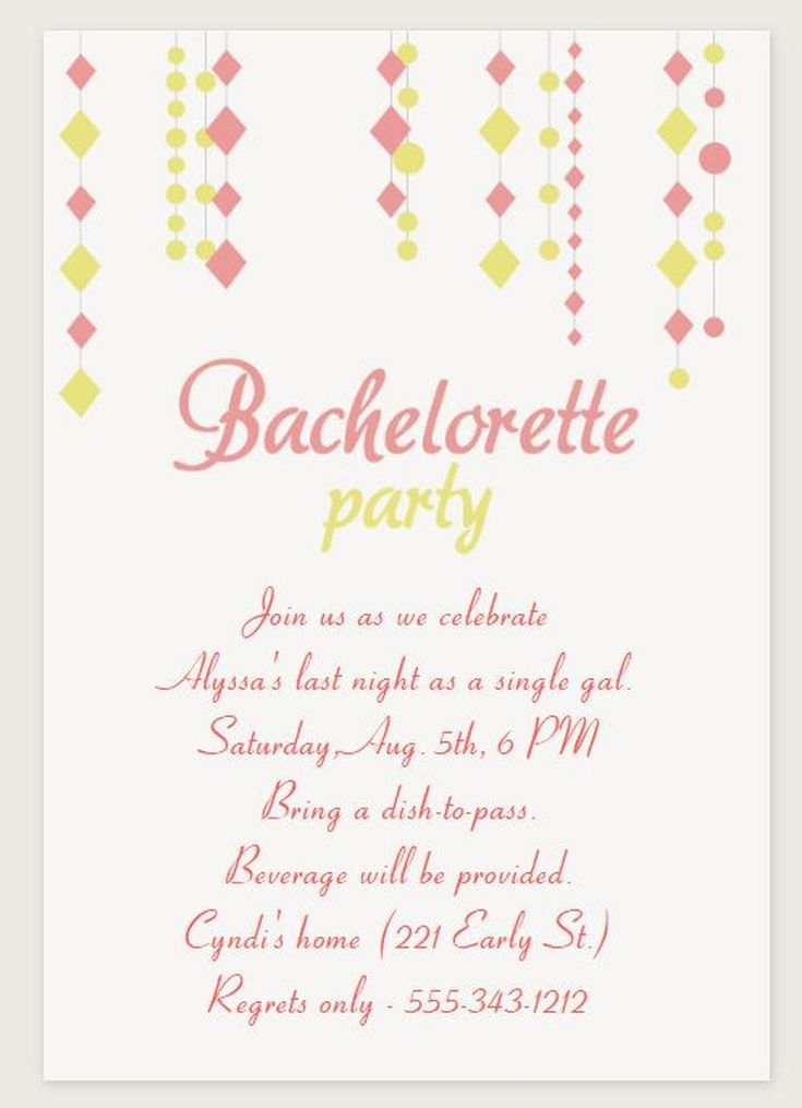 image regarding Free Printable Bachelorette Party Invitations referred to as 9 Cost-free Bachelorette Bash Invites Your self Will Delight in