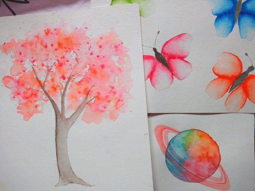 3 Aquarelles Colorees Faciles Et Rapides A Realiser Peinture