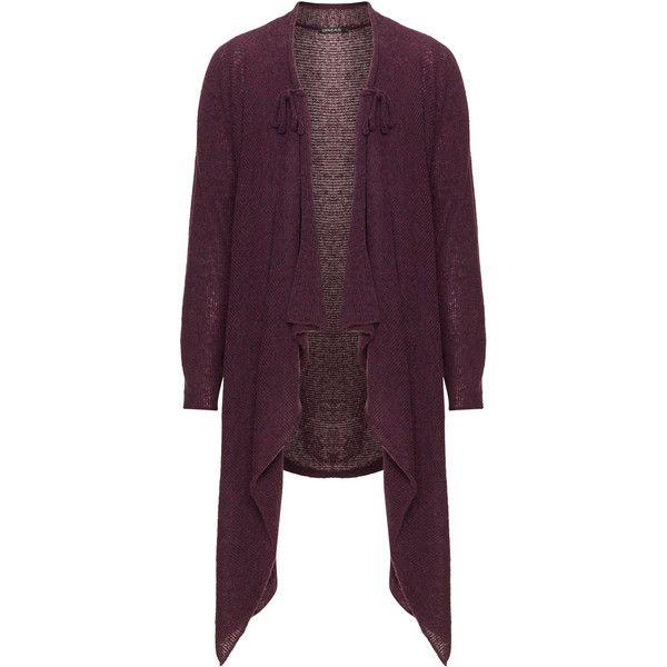 Grizas Berry-Purple Plus Size Waterfall cardigan (8.015 RUB ...