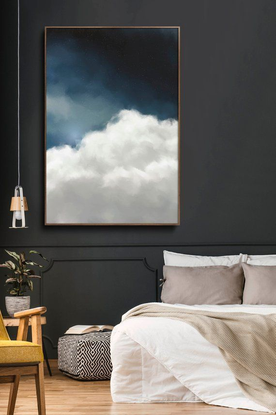 Cloud Painting, Extra Large Wall Art, Abstract Art, Large Abstract Painting, Blue and White Cloudscape Art by CORINNE MELANIE ART -  Great Wall Art Abstract art Cloud painting instantly update your room with this stunning large wall - #abstract #Art #Artists #blue #Ceramics #Cloud #Cloudscape #CORINNE #extra #FashionTrends #Large #MELANIE #Painting #Pottery #RunwayFashion #wall #white #Women'sStreetStyle