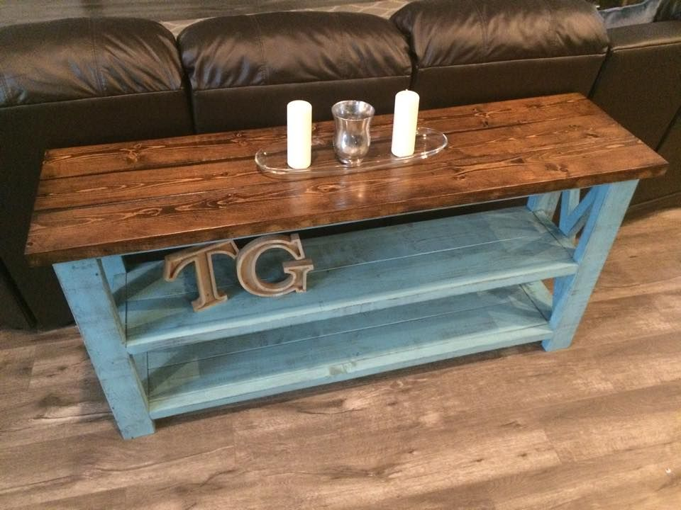 Ana White Rustic X Sofa Table Diy Projects Kid Pinterest
