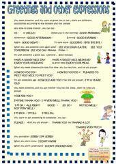 Greetings for kids worksheet - Free ESL printable worksheets made by ...