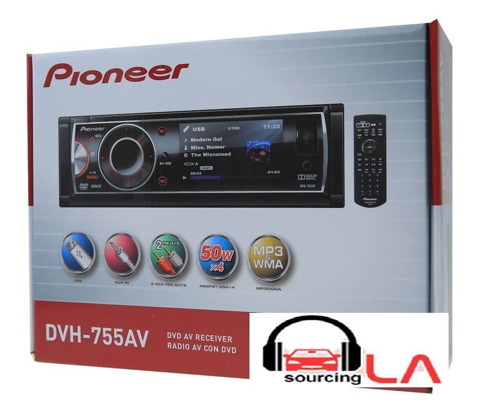 small resolution of pioneer dvh 755av 3 dvd cd mp3 usb in dash car audio stereo receiver pioneer