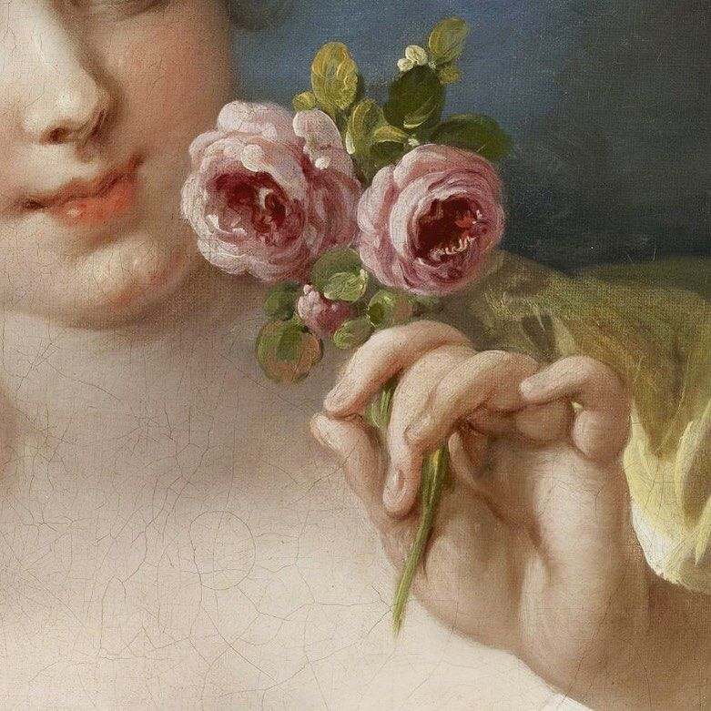 "d on Instagram: ""girl with roses, françois boucher . . follow @estleich 💕"" 