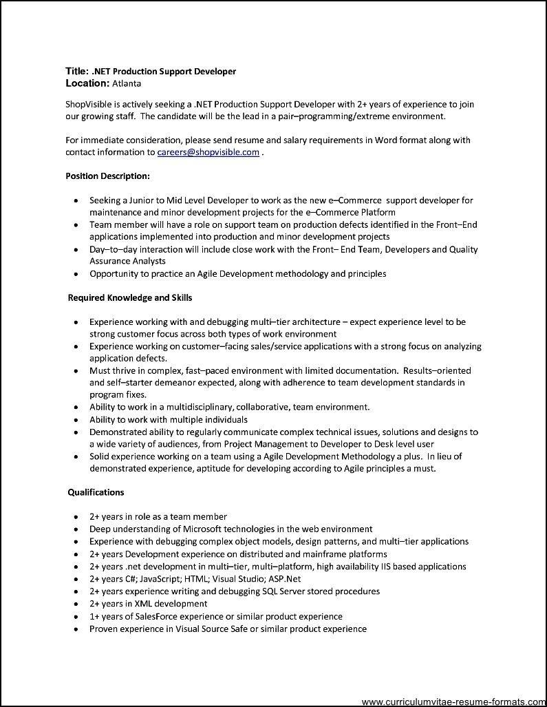 2 years resume format format resume years