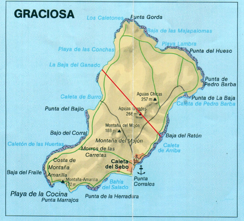 La Graciosa Map, Canary Islands | ISLANDS ~Miles of Isles
