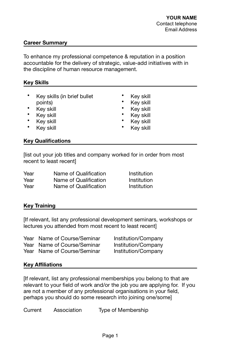 Resume Bullet Points Examples How To Write A Resume For A Job With Sponsorship For Australia