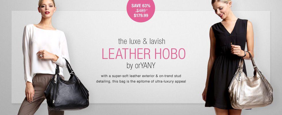 ideelWOW: orYANY leather hobo