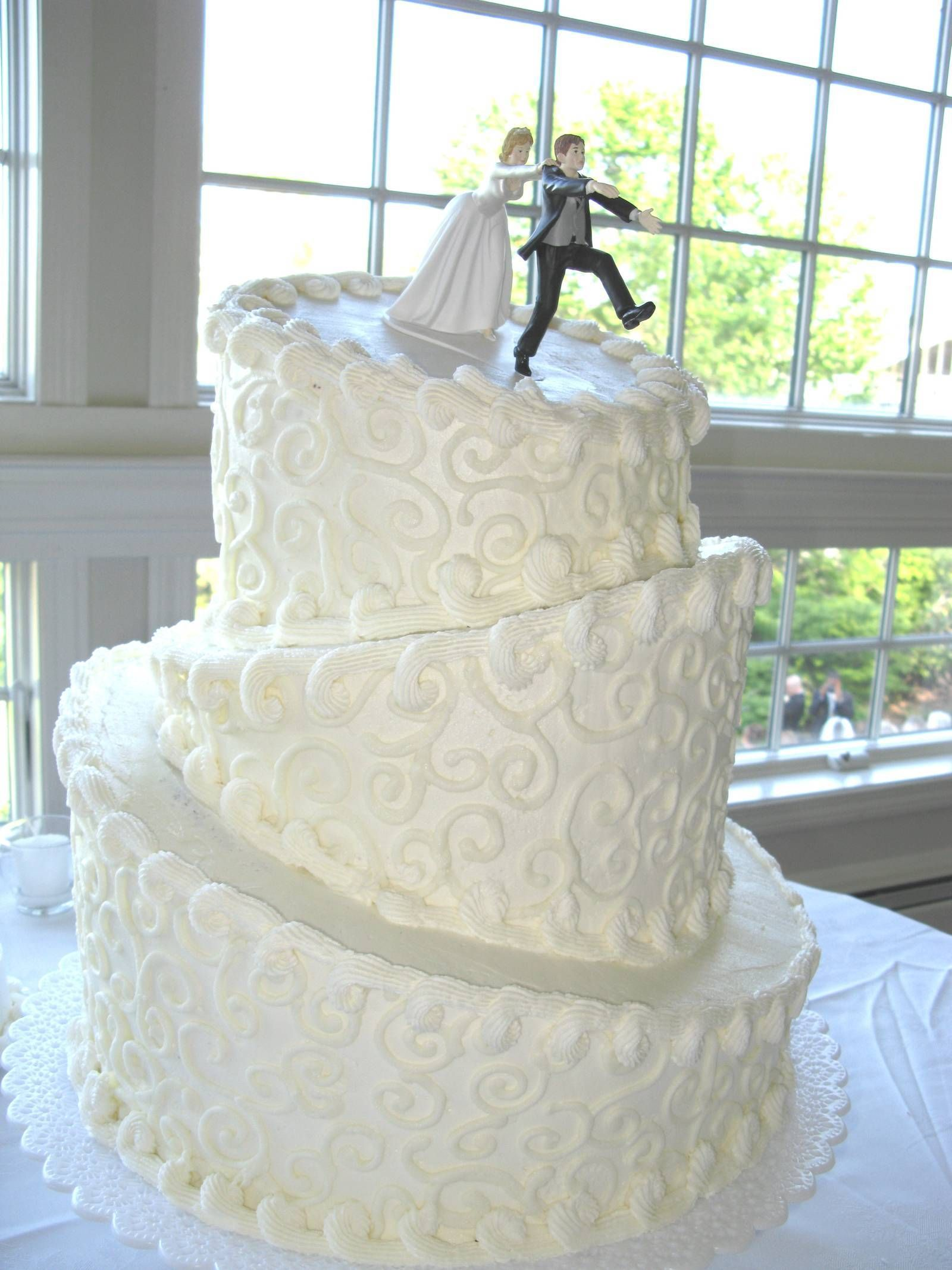 Topsy Turvy Wedding Cake I Like The Look Of This A Lot Not Groom Running Off Though Lol