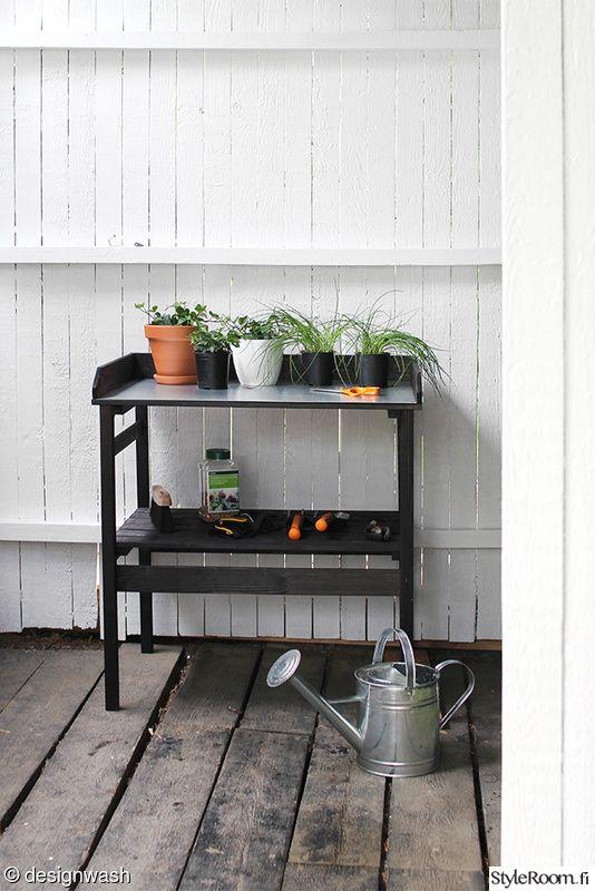 piha,istutuspöytä,puutarha,istutus
