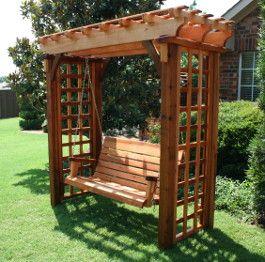 Deluxe pergola swing arbor swing pergola swing garden swing dallas tx garden - Arbor bench plans set ...