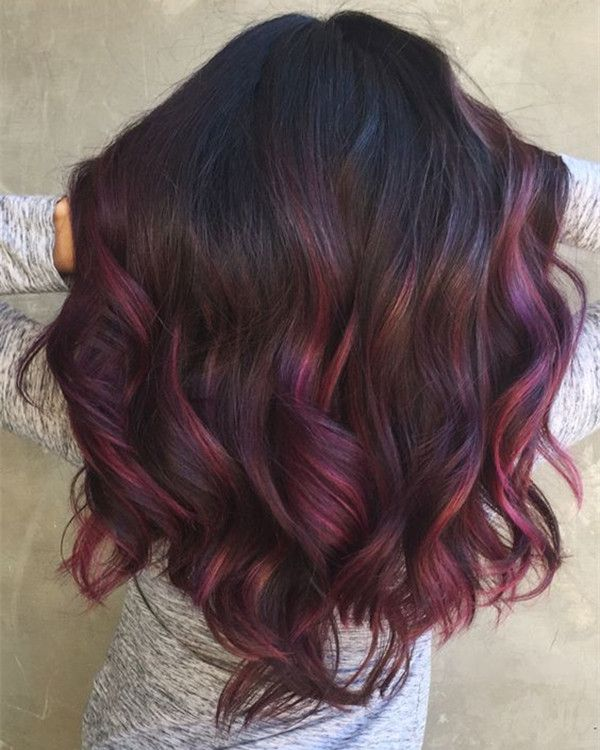 Top 20 Hair Color Ideas For Brown Black Hair You Orchid Hair Color Hair Styles Maroon Hair