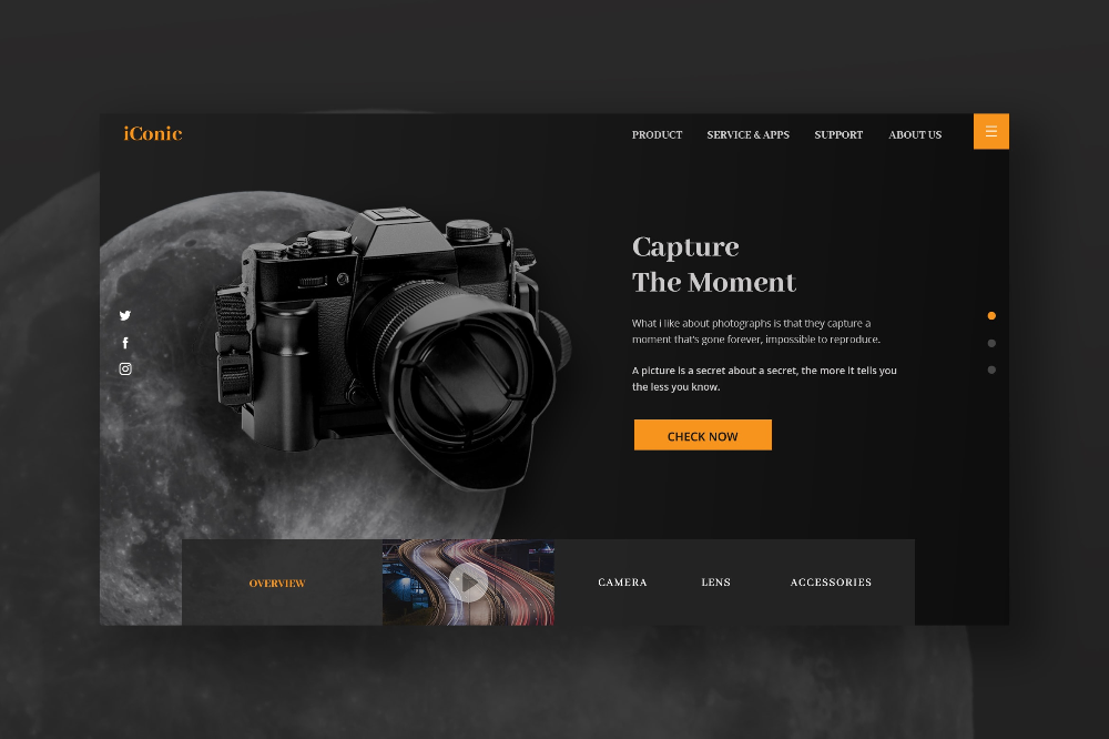 Hero Header Photography Store Service Photography Store Camera Website Camera Lens Accessories