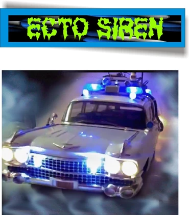 Ghostbusters Ecto 1 Siren Ghostbusters Police Lights Siren
