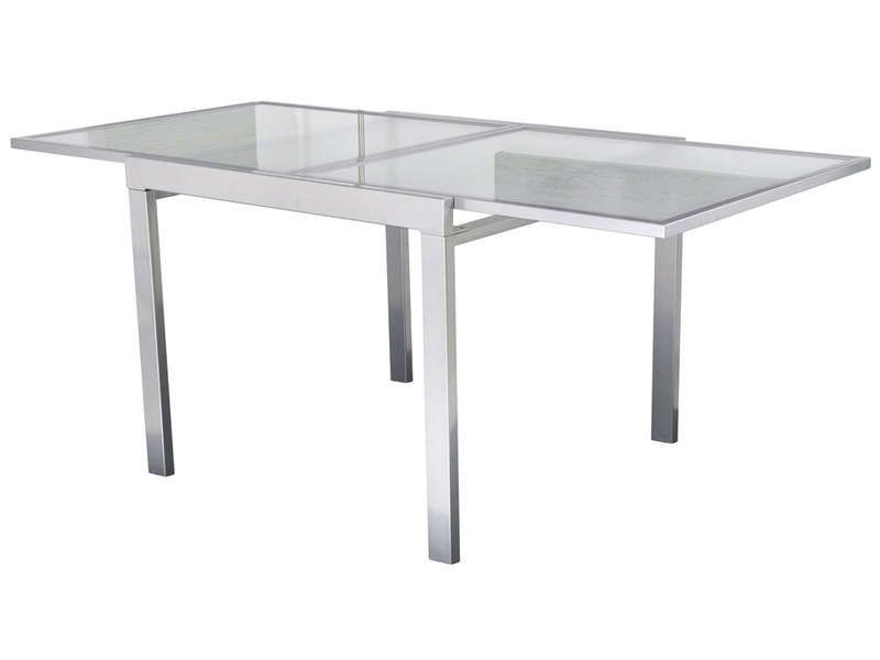 cool Table extensible EXTEND coloris argent - Conforama Check more - Conforama Tables De Cuisine