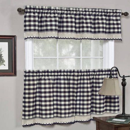 Home Gingham Curtains Kitchen Window Curtains Kitchen Curtains