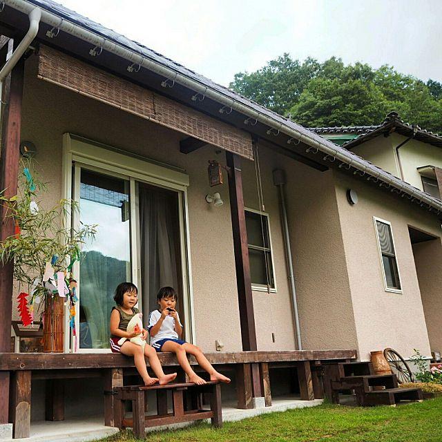 自然がいっぱい 田舎の平屋住まいでゆったり暮らす 縁側