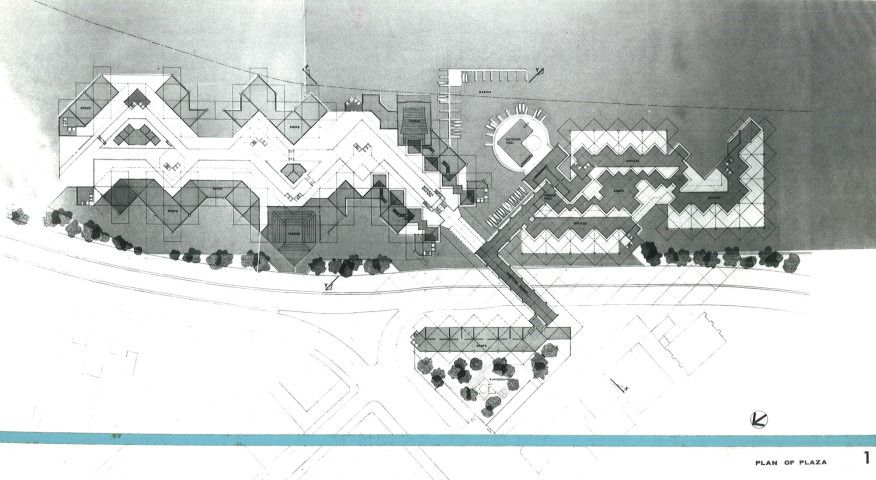 One of the site plans from the unbuilt Habitat New York project