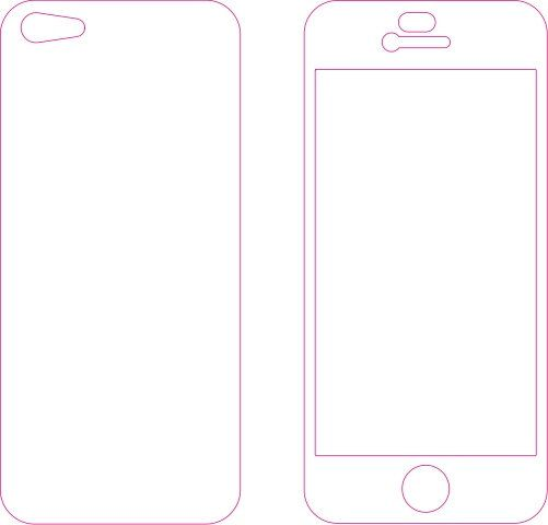 Iphone 5 Or 5s Skin Template For Cutting Machining