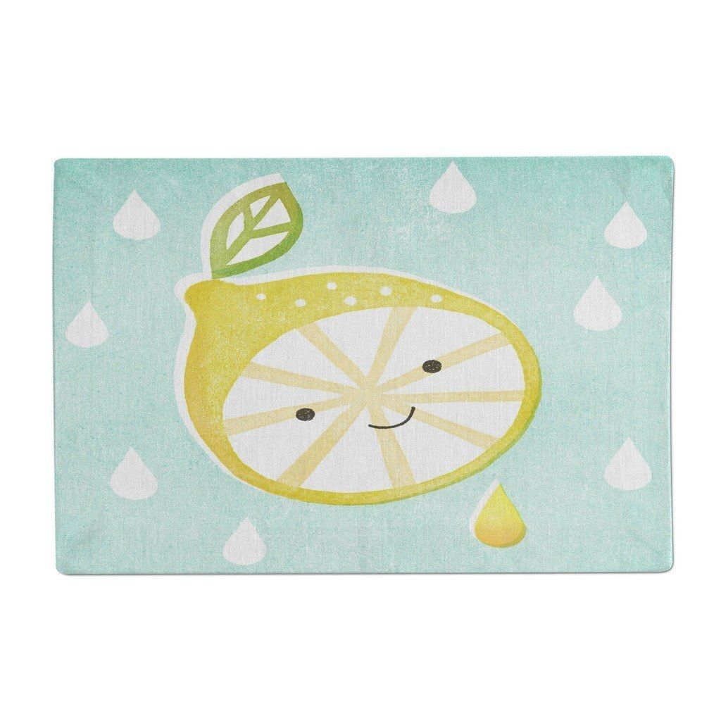 Smiley lemon with raindrops