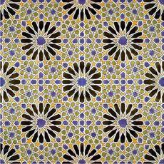 Moorish Mosaic Alhambra Palace Granada Spain Make Pattern