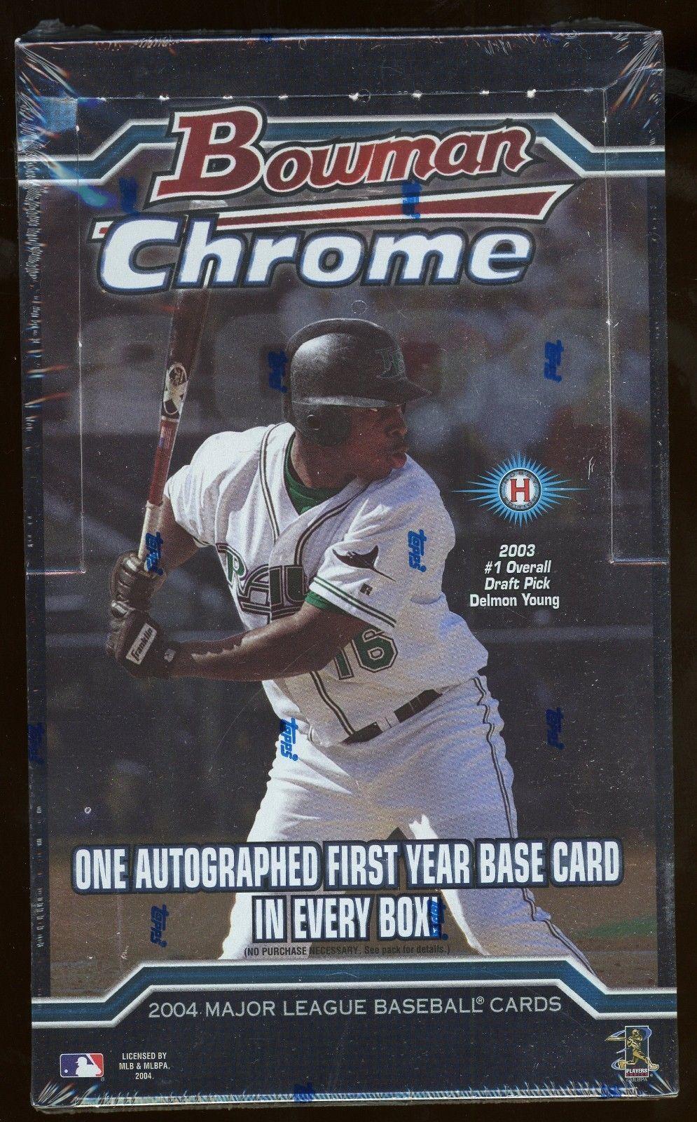 2004 bowman chrome baseball factory sealed hobby box