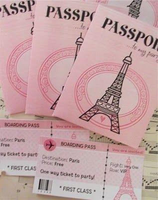 Invitaciones Fiesta De 15 Años Temática Paris Invitaciones