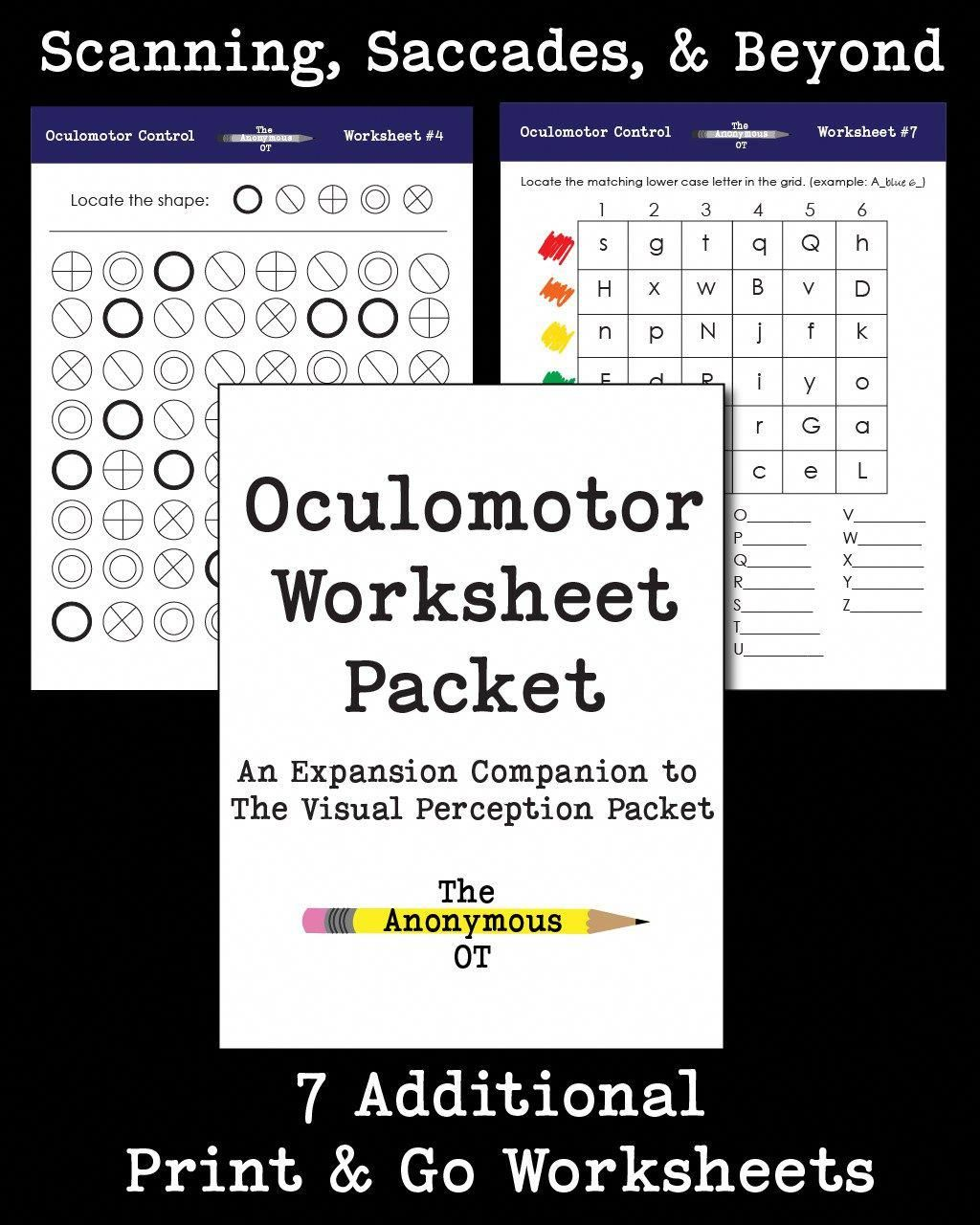 The Oculomotor Worksheet Packet