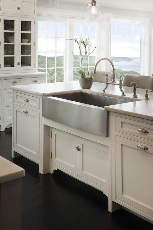 Stainless Steel Farmhouse Style Kitchen Sink Inspiration Kitchen