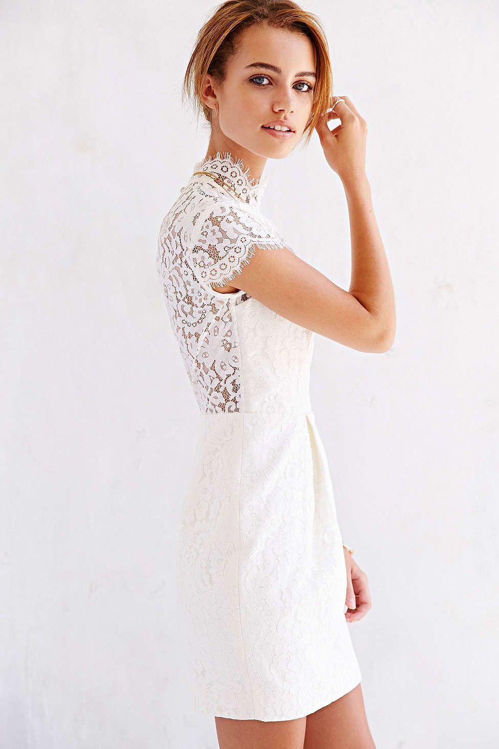Keepsake Run The World Lace-Top Shift Dress - Urban Outfitters