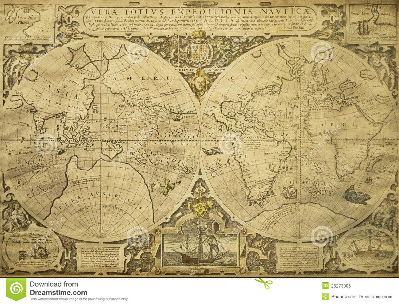 Vintage World Map Download From Over