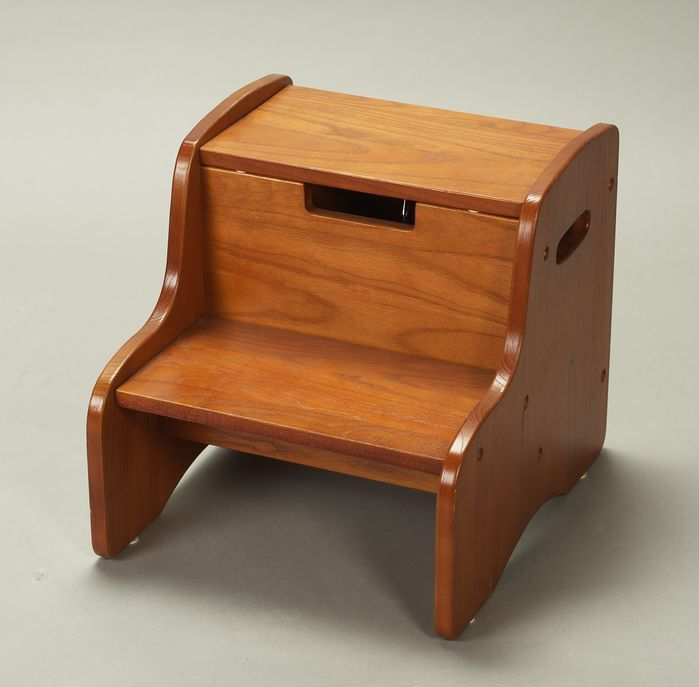 Step Stool With Storage Wood Steps Stool Wood