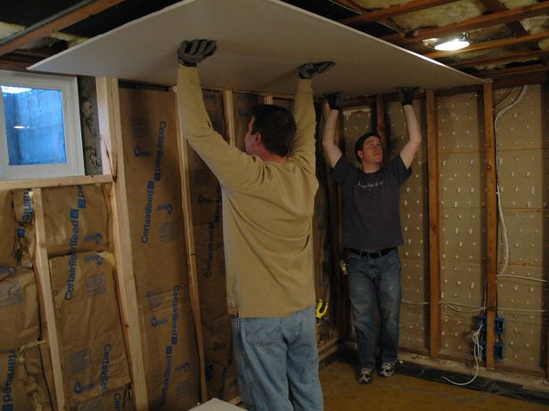 How To Hang Drywall And Mud Hanging Drywall Finished Garage